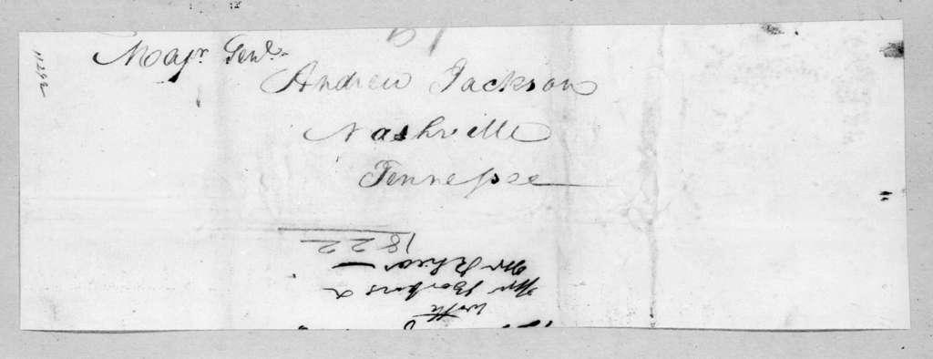 John Henry Eaton to Andrew Jackson, February 12, 1822