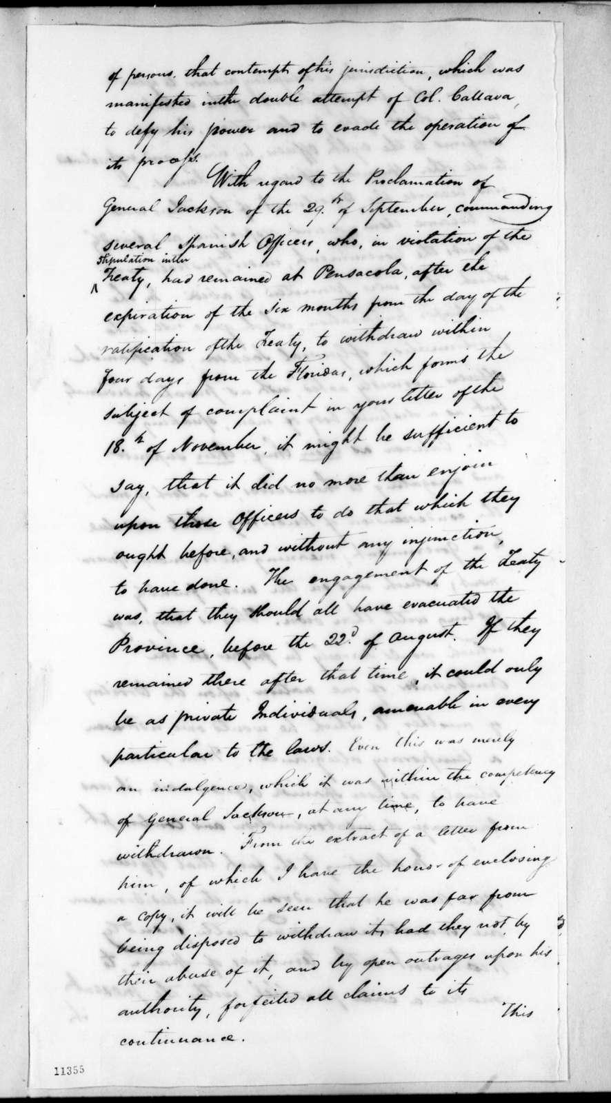 John Quincy Adams to Joaquin de Anduaga, April 15, 1822