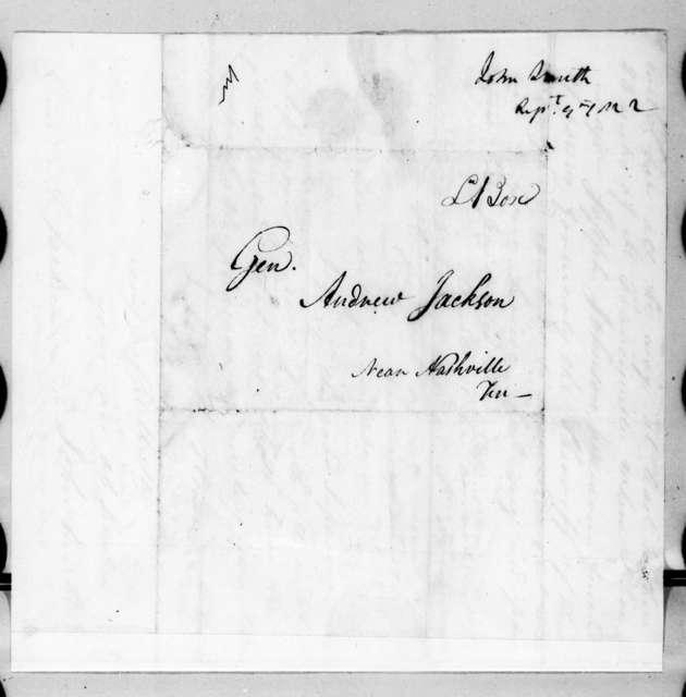John Smith to Andrew Jackson, September 9, 1822