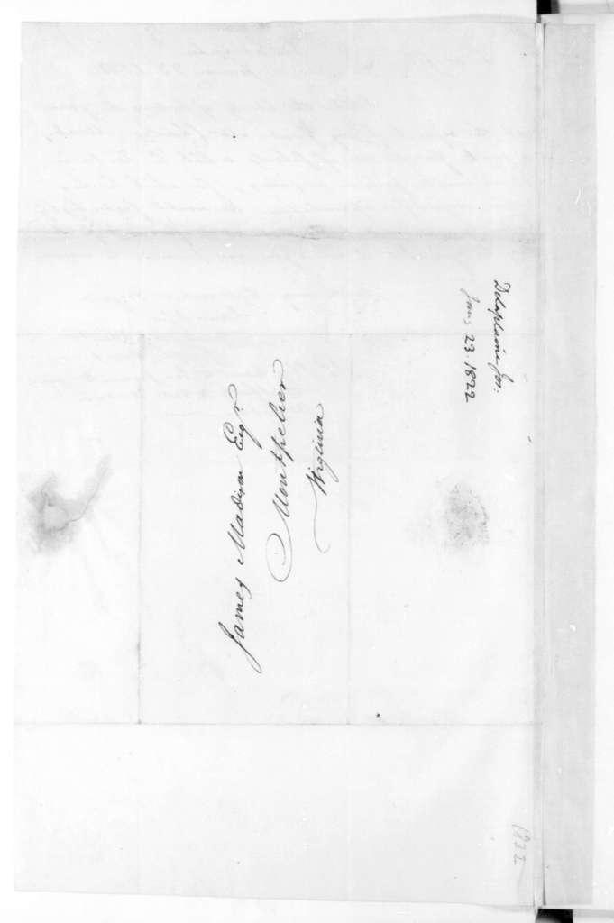 Joseph Delaplaine to James Madison, January 23, 1822.