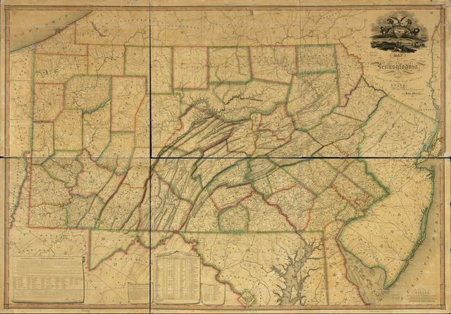 Map of Pennsylvania : constructed from the county surveys authorized by the state and other original documents /