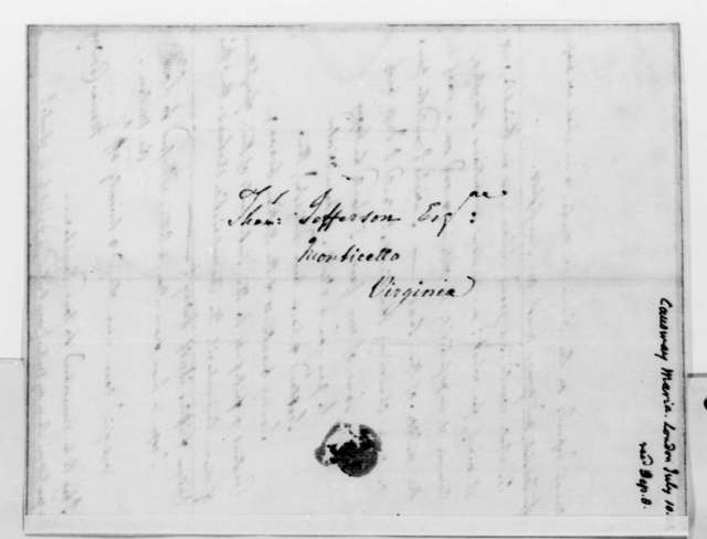Maria Hadfield Cosway to Thomas Jefferson, July 10, 1822