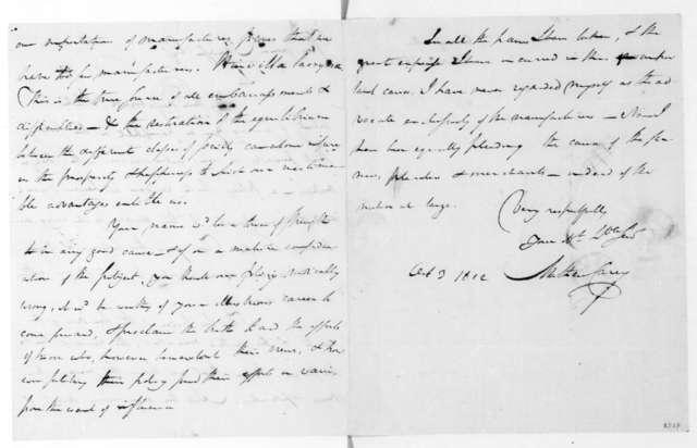 Mathew Carey to James Madison, October 3, 1822.