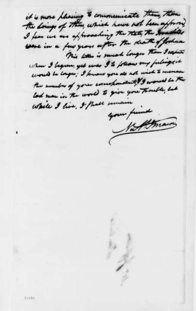Nathaniel Macon to Thomas Jefferson, February 2, 1822