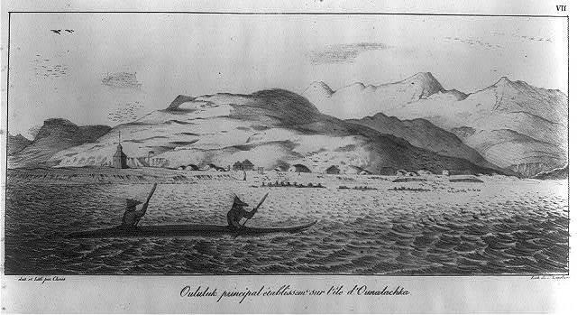 Oululuk principal etablissem sur l'ile d'Ounalachka