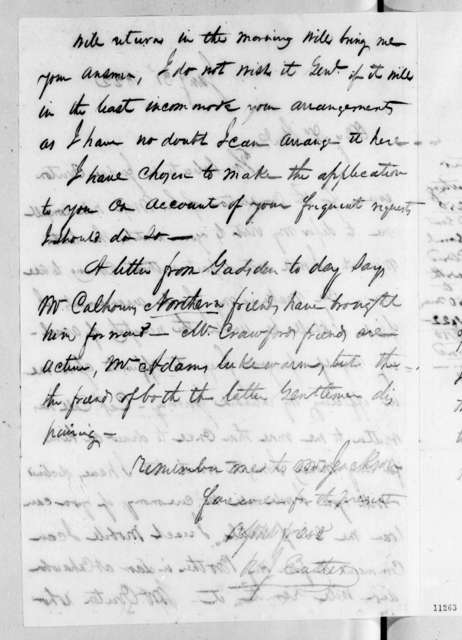 Richard Ivy Easter to Andrew Jackson, January 31, 1822