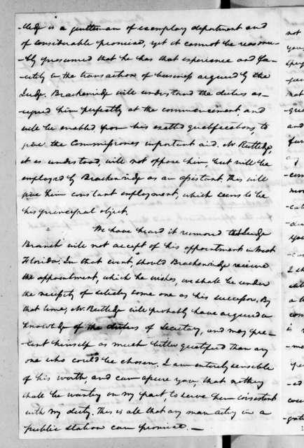 Samuel Ragland Overton to Andrew Jackson, July 5, 1822