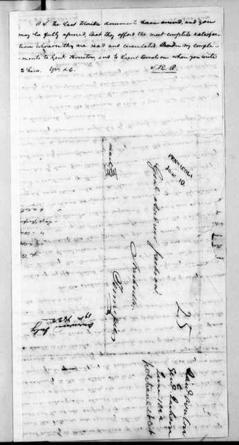 Samuel Ragland Overton to Andrew Jackson, June 9, 1822