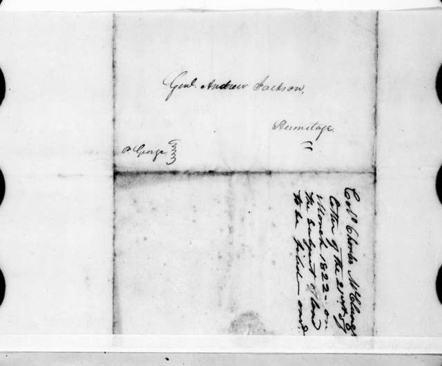 Samuel Ragland Overton to Andrew Jackson, March 21, 1822