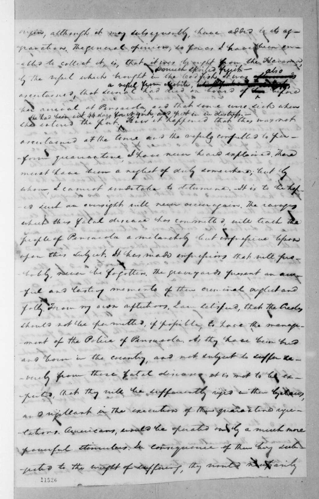 Samuel Ragland Overton to Andrew Jackson, November 30, 1822
