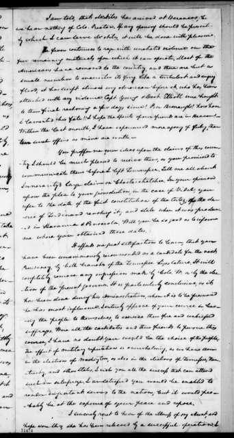 Samuel Ragland Overton to Andrew Jackson, September 10, 1822