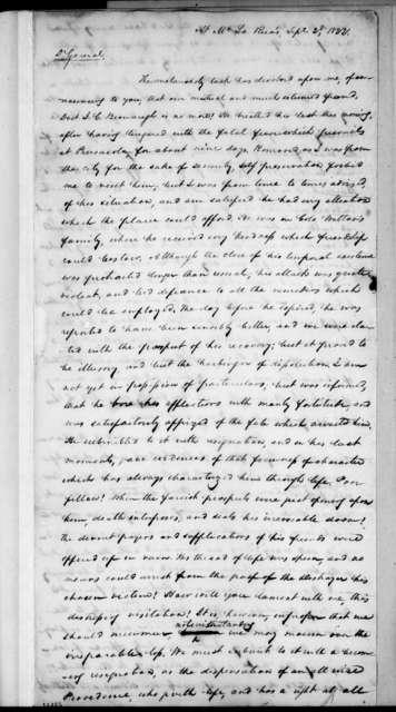 Samuel Ragland Overton to Andrew Jackson, September 2, 1822