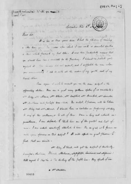 Thomas C. Flournoy to Thomas Jefferson, May 6, 1822