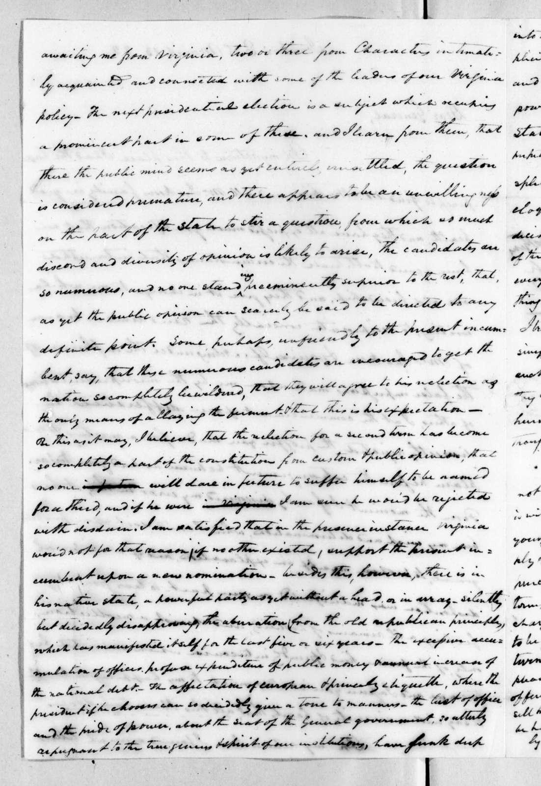 Thomas Gassaway Watkins to Andrew Jackson, March 13, 1822