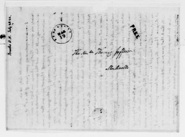 Thomas Jefferson to A. H. Brooks, July 28, 1822