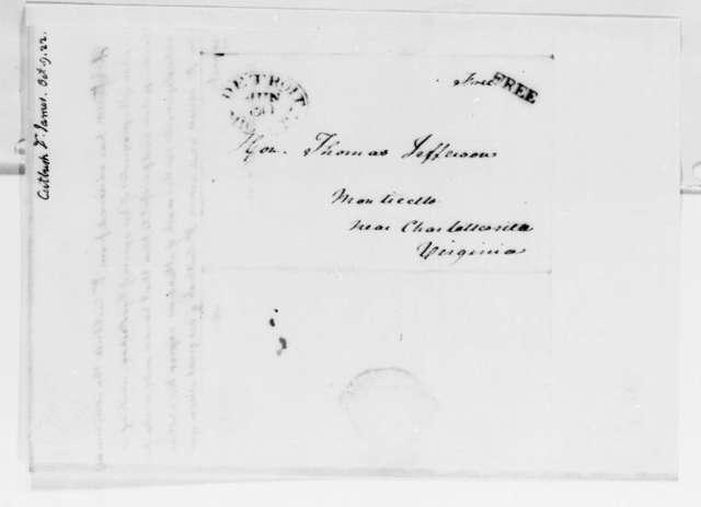Thomas Jefferson to James Cutbush, October 9, 1822