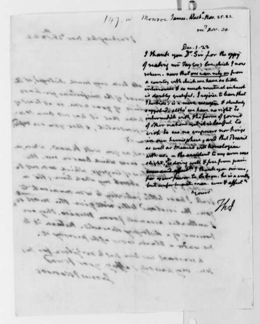 Thomas Jefferson to James Monroe, December 1, 1822