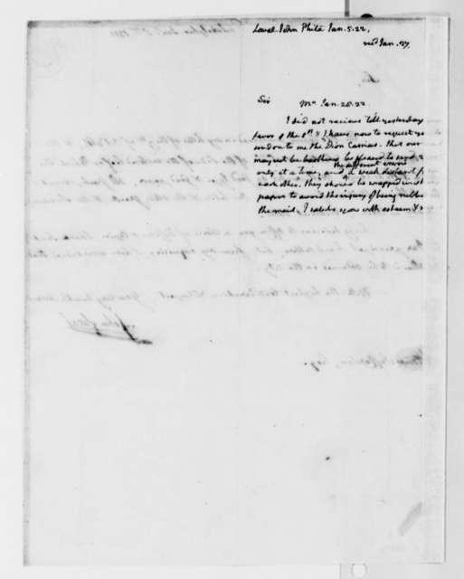 Thomas Jefferson to John Laval, January 25, 1822