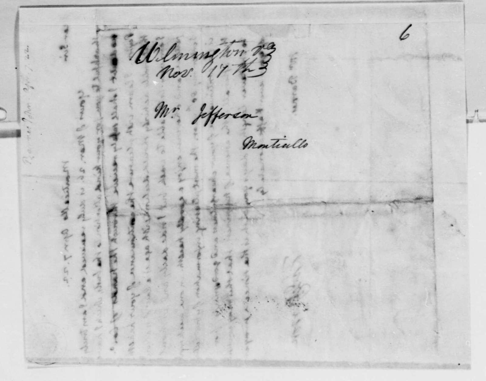 Thomas Jefferson to John S. Barnes, April 7, 1822