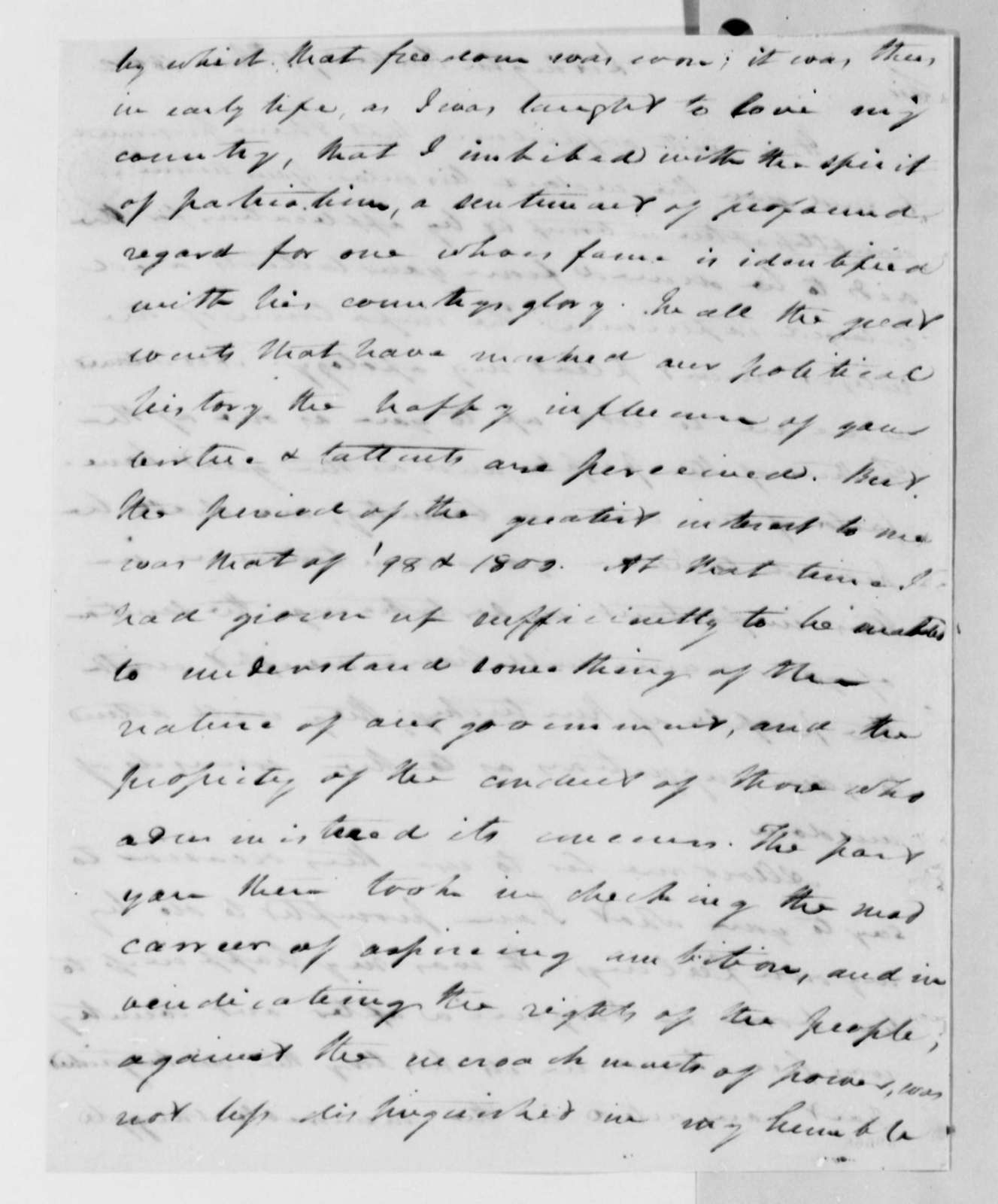 W. T. Barry to Thomas Jefferson, June 15, 1822, with Circular on Public Education