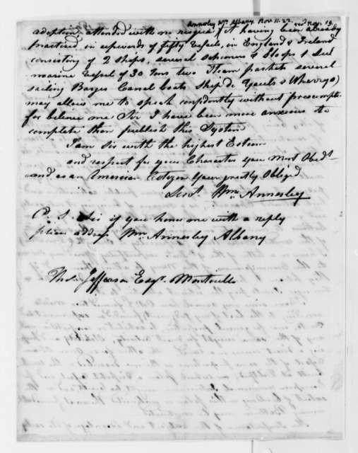 William Annesley to Thomas Jefferson, November 11, 1822
