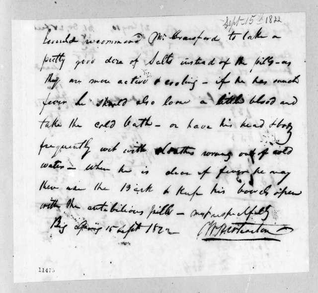William Henry Wharton, September 15, 1822