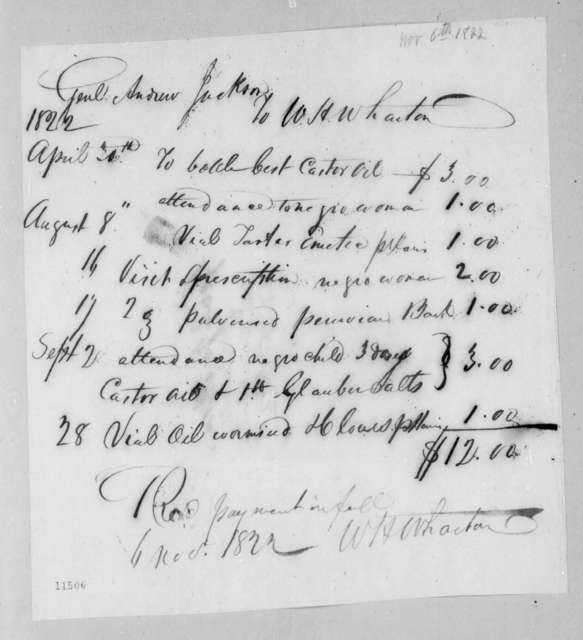 William Henry Wharton to Andrew Jackson, November 6, 1822