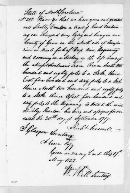 William Hill to John Christmas McLemore, May 17, 1822
