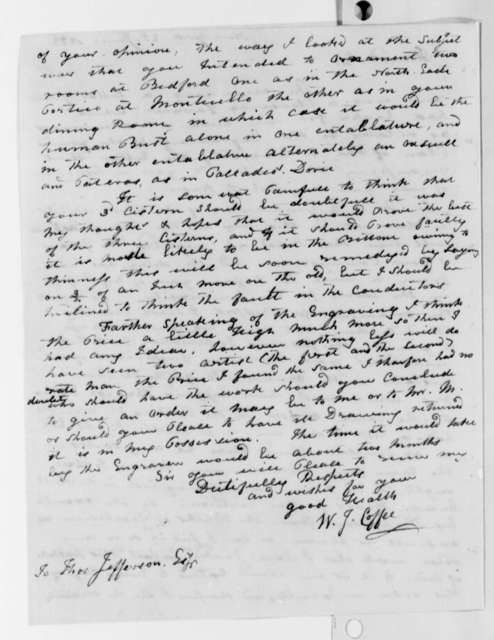 William J. Coffee to Thomas Jefferson, June 25, 1822