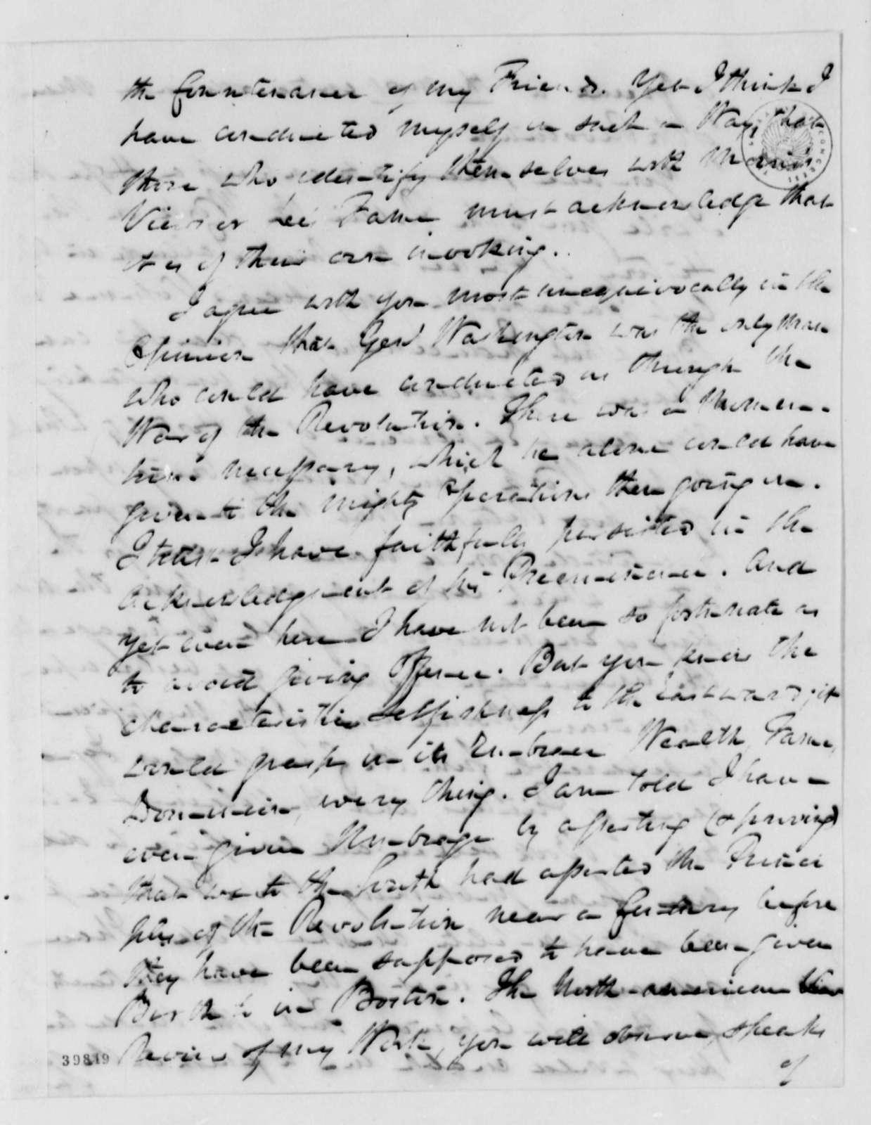 William Johnson to Thomas Jefferson, December 10, 1822