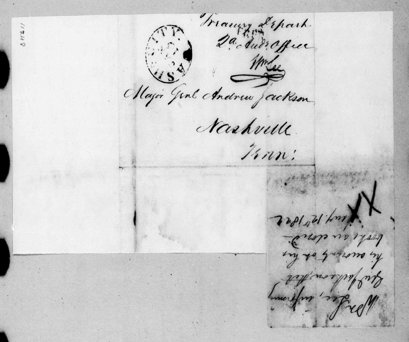 William Lee to Andrew Jackson, January 12, 1822