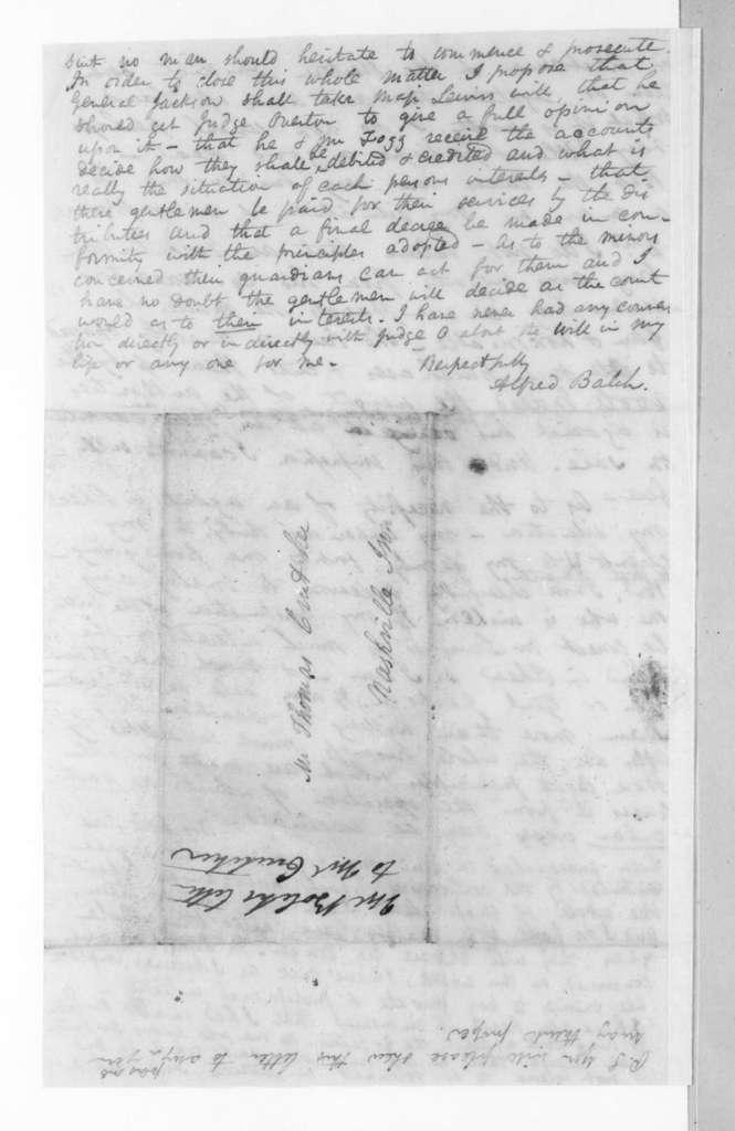 Alfred Balch to Thomas Crutcher, March 11, 1823