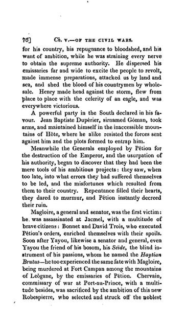 An essay on the causes of the revolution and civil wars of Hayti, being a sequel to the political remarks upon certain French publications and journals concerning Hayti.