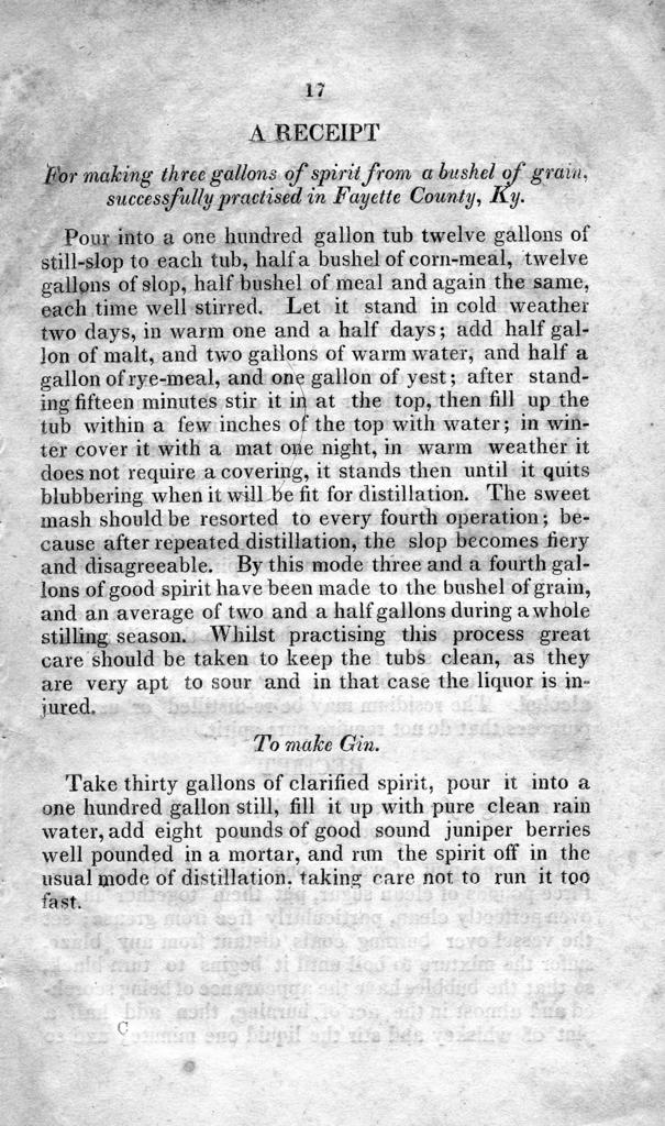 An essay on the importance and the best mode of converting grain into spirit : as a means of promoting the wealth and prosperity of the western country, read before the Kentucky Institute at its meeting in Lexington, on Wednesday evening, July 30th, 1823 ...