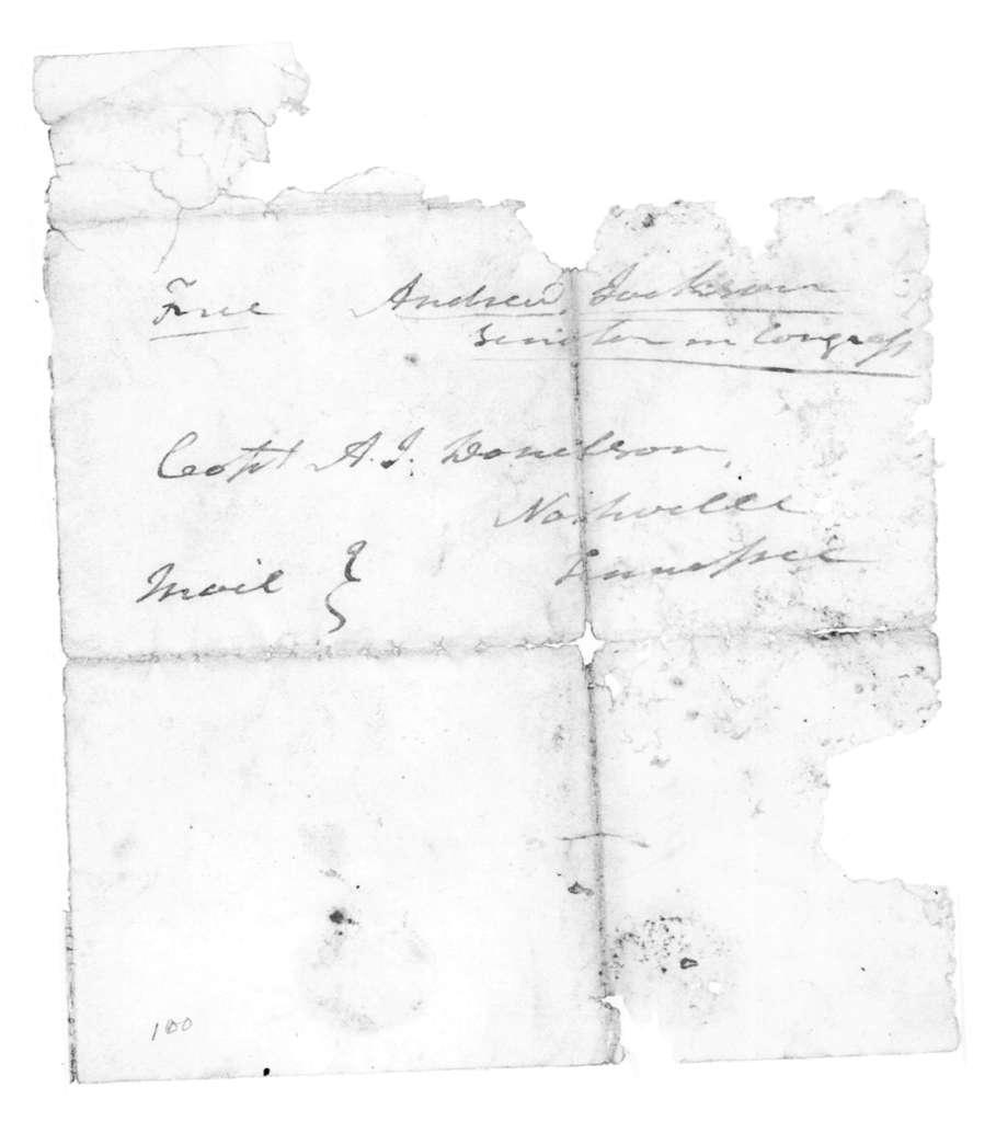 Andrew Jackson to Andrew Jackson Donelson, December 5, 1823