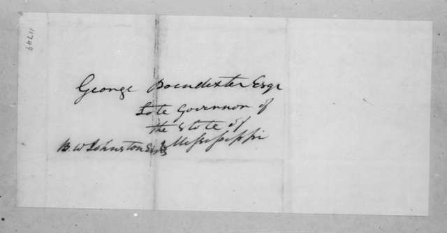 Andrew Jackson to George Poindexter, July 14, 1823