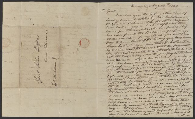 Andrew Jackson to John Coffee, January 24, 1823