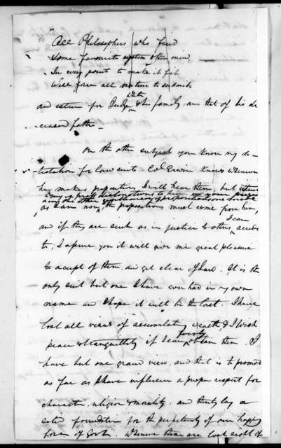 Andrew Jackson to John McNairy, September 6, 1823