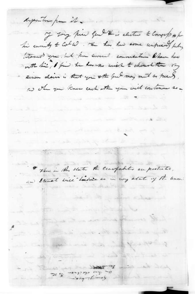 Andrew Jackson to Unknown, October 4, 1823