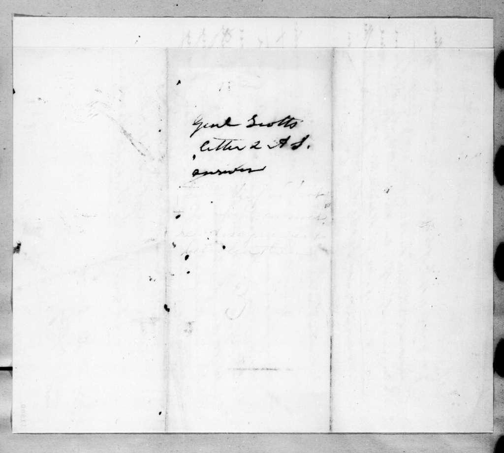 Andrew Jackson to Winfield Scott, December 11, 1823