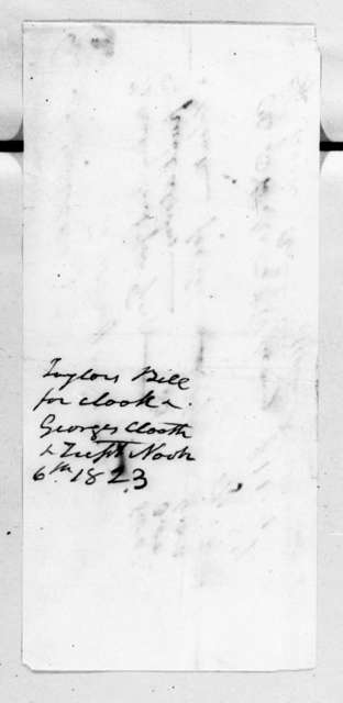 Andrew Jackson to Woodruff & Smiley, November 6, 1823