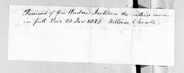 Anthony Winston, Jr. to William Chandler, January 28, 1823