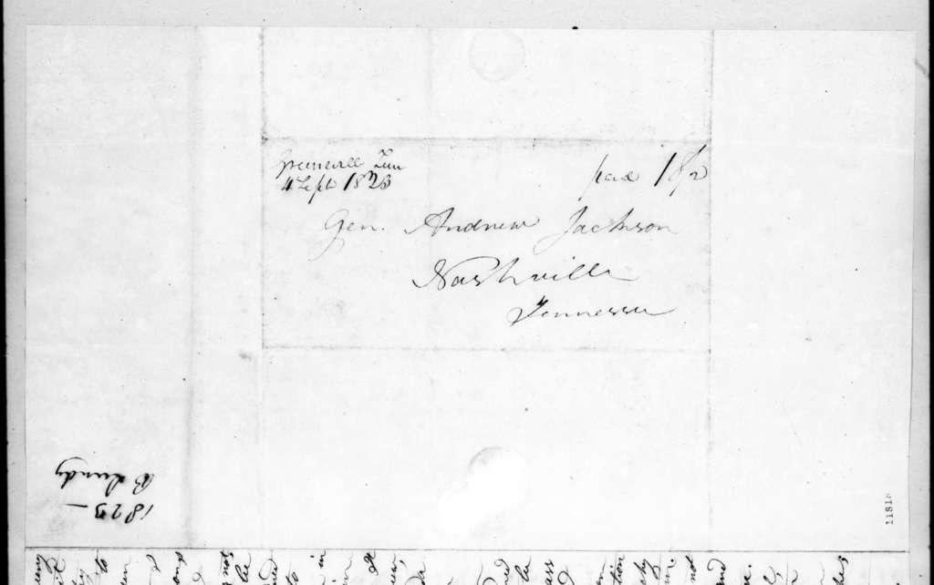Benjamin Lundy to Andrew Jackson, September 4, 1823