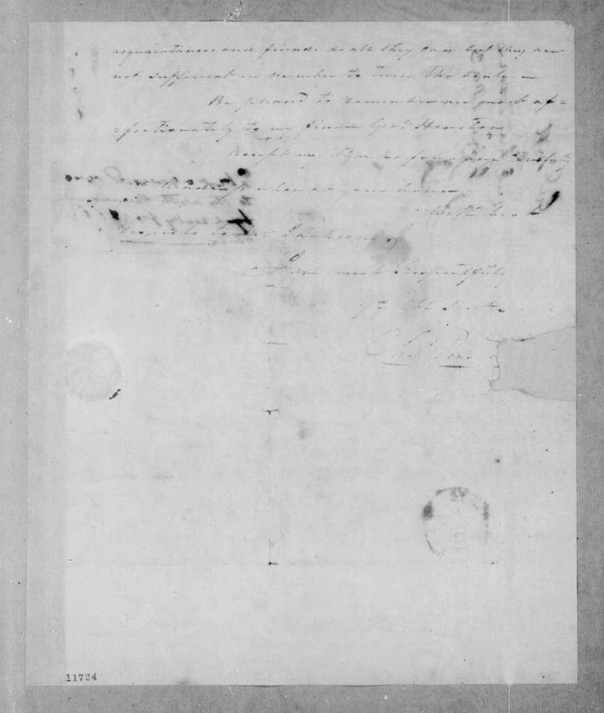 Charles Pendleton Tutt to Andrew Jackson, June 24, 1823