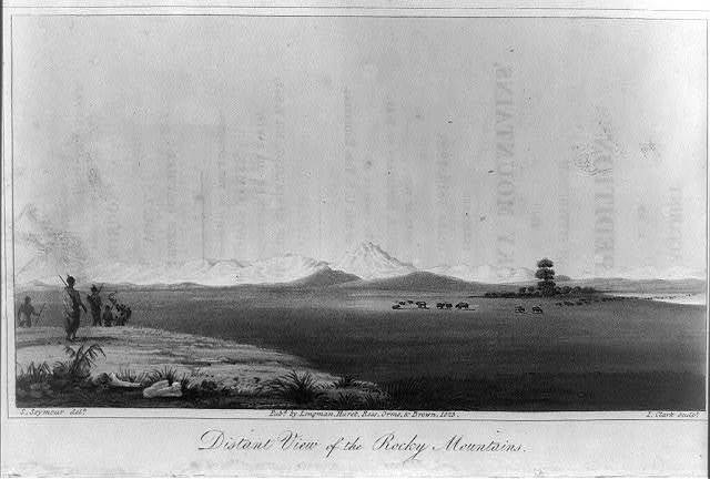 Distant view of the Rocky Mountains / S. Seymour, delt. ; I. Clark, sculpt.