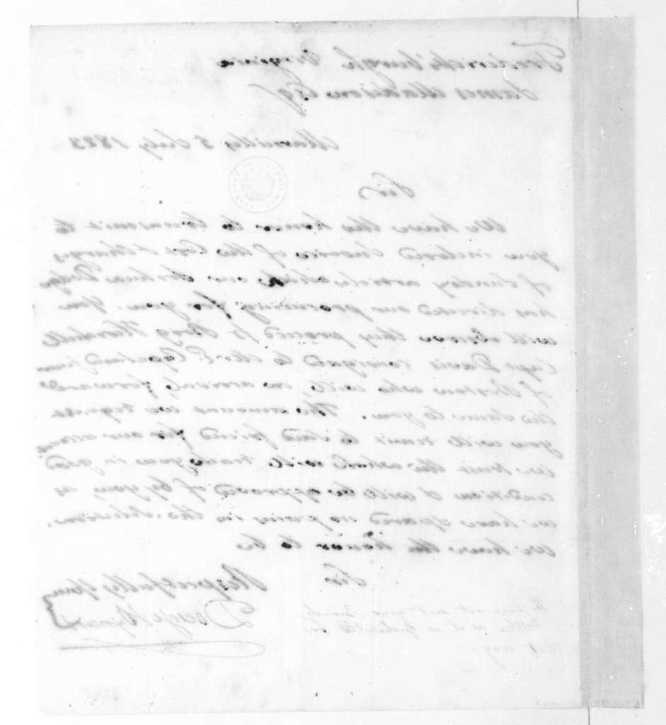 Dodge & Oxnard to James Madison, July 5, 1823.