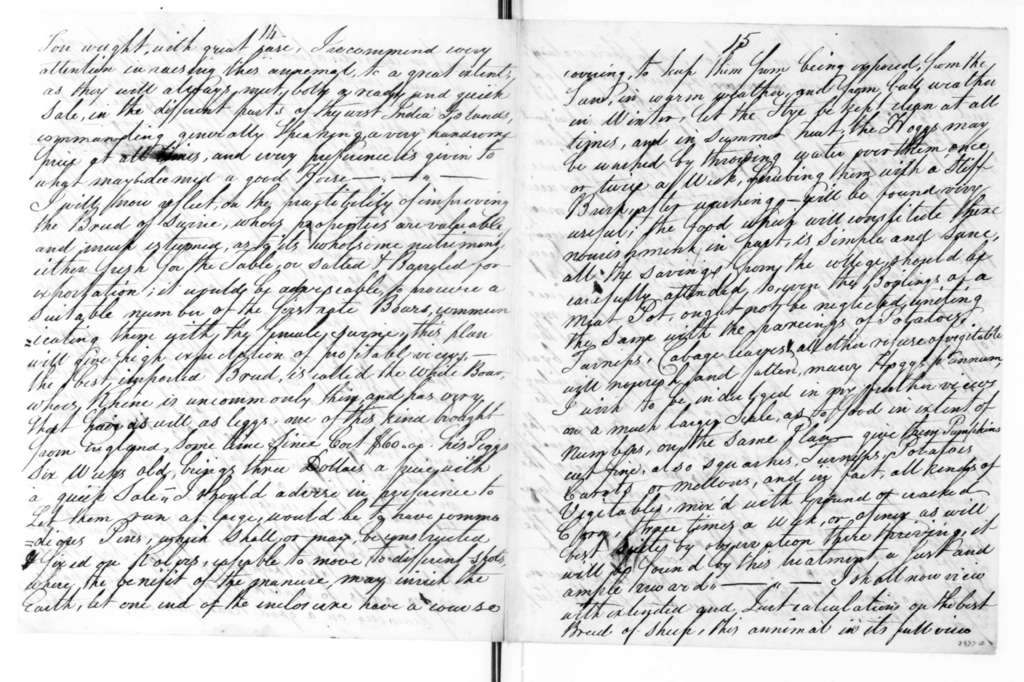 E. Callender to James Madison, February 16, 1823. Plan for Virginia Agricultural College.