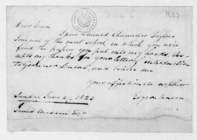 Edgar Macon to James Madison, June 29, 1823.