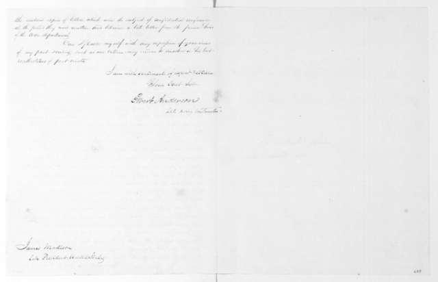 Elbert Anderson Jr. to James Madison, October 12, 1823.