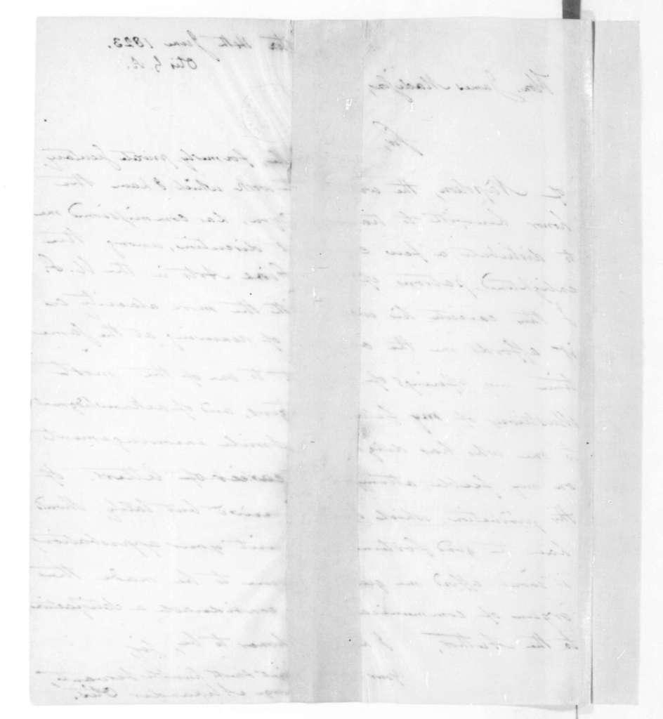 George Alexander Otis to James Madison, June 14, 1823.